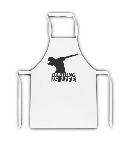 Dabbing Is Life White Adult Apron